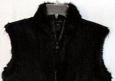 Pink Tartan Women's Black Mink Fur Vest Size L/XL