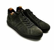 Tod's Nubuck Leather Sneakers 8.5 D M Grey Low Top 7.5 UK 42 Trainers Suede Shoe