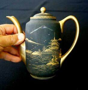 Beautiful Satsuma Vintage Japanese Hand Painted Eggshell Porcelain Teapot