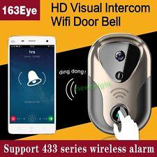 WIF Wireless Video Door Phone Doorbell Intercom Home Security Camera Monitor