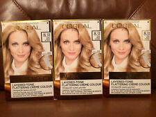 3 x L'Oreal Excellence Age Perfect 8.31 Pure Beige Blonde Hair Dye