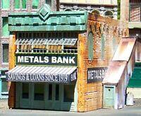 Downtown Deco N Scale Metals Bank Building Craftsman Kit + Free Bonus Kit!