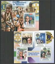 CA828 2012 CENTRAL AFRICA INTERNATIONAL ORGANIZATIONS LIONS ROTARY BL+KB NEW