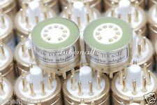1piece*Gold plated EF86 TO 6SJ7 tube converter adapter