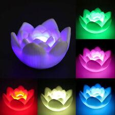 Lotus Color Changing LED Flower Love Mood Lamp Night Light Favor Home  Decor pop