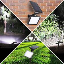LED Waterproof Solar Powered Outdoor Garden Security Flood Light Spot Lamp USA