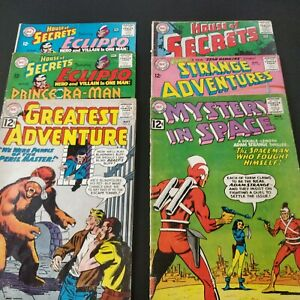 Silver Age 6 issue DC Comic Lot 12 cents House of Secrets & more. Mystery/Horror