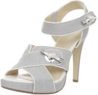 Calvin Klein Lizandra Linen/ Shinny S Nappa Size 7M - Ash Grey Color