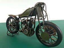 Vintage Motorbike Motorcycle Metal Ornament Art Hand Painted 84064 Boxed