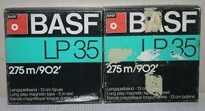 "2 x BASF LP35 1/4"" Reel To Reel Audio Recording Tape - 275m 5"" Boxed"