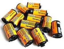 12 x Kodak ColorPlus 200 35mm Reloadable empty cartridges cassettes with tail.