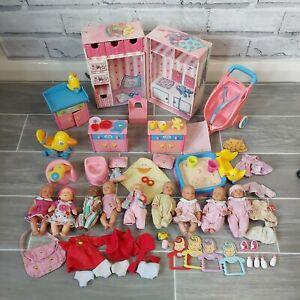 Large Baby Born Mini World Bundle X9 Doll Wardrobe Clothes Duck Pram Furniture