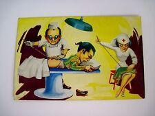 Mexican Postcard w/ Matador At Doctor's Having A Bullfighting Injury Sown Up *