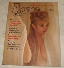 1965 ACE MEN's PINUP MAGAZINE NUDE SKY DIVING UNDERWORLD TYCOONS CHARLIE CHAPLIN