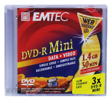 Materiales EMTEC 4x DVD-R mini 8cm 1,4gb 30min box 36 unid.