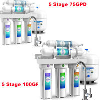 5/6 Stage Reverse Osmosis Drinking Water Filter System Under Sink NSF Purifier