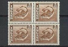 Iceland 1939 Sc# 219 Herring Fish 5a block 4 MNH