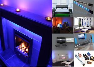LED MOOD LIGHTING HOME TV BACKLIGHTS COLOUR CHANGING SOUND RESPONSIVE LIGHTS