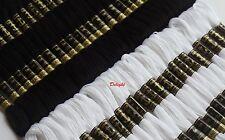 24 Black & 24 White Anchor  Embroidery Cotton Thread Floss / Skein