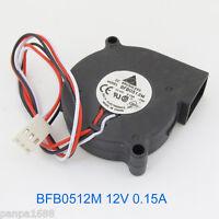 1pc Delta BFB0512M 50x50x15mm 5015 DC12V 0.15A  DC Blower Fan 3pin Connector