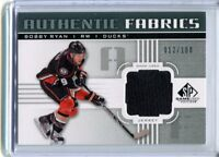 2011-12 UD Authentic Fabrics #AF-RY Bobby Ryan Ducks Game-Used jh11