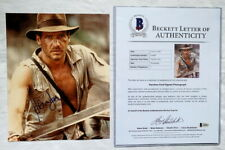 Harrison Ford signed autograph 8x10 photo Indiana Jones Beckett BAS