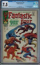 CGC 7.5 FANTASTIC FOUR #73 CLASSIC BATTLE COVER SPIDER-MAN DAREDEVIL THOR