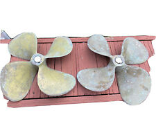 Bronze propellers, 21 X 22.5, 1 3/4 Bore, 4 blades Matching set, LH & RH, As Is.