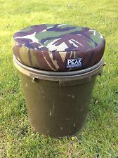 Peak angling product camo carp fishing bucket cushion