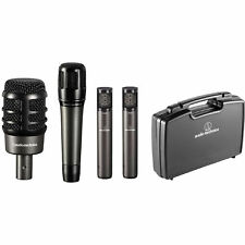 Audio-Technica Atm-Drum4 Drum Mic Pack w/ Kick, Snare, Overheads & Case