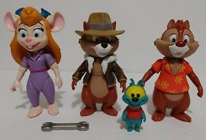 Disney Rescue Ranger Lot of 4 Gadget Chip 'N' Dale & Zipper Action Figures Funko