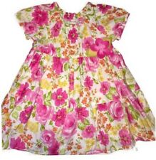 Baby Lulu Girl 12m Pink Tiered Floral Peasant Dress EUC 6-12m Felt Flower Spring
