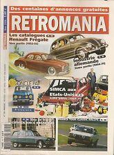 RETROMANIA 120 R8 GORDINI SIMCA USA 1964 70 CATALOGUES RENAULT FREGATE 1952 1955
