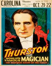 GIANT HOWARD THURSTON MAGIC SHOW POSTER VAUDEVILLE MAGICIAN DURHAM NC FINE ART
