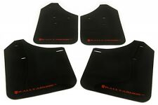 Rally Armor 02-07 Subaru WRX /STI /RS /2.5​i UR Black Mud Flaps Kit w/ Red Logo