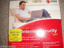 PC-cillin INTERNET SECURITY 2007 ~ CD ~ viruses, hackers, spyware, etc