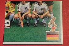 Panini EURO 88 N 48 DEUTSCHLAND TEAM NEW WITH BACK VERY GOOD CONDITION !!!