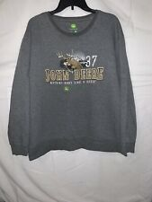 John Deere Mens Sweatshirt Large Gray Long Sleeve