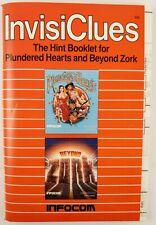 Plundered Hearts and Beyond Zork InvisiClues by Infocom #BF