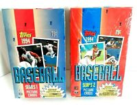 1994 Topps Baseball Unopened 36 Wax Pack Sealed Boxes  Series 1 and Series 2