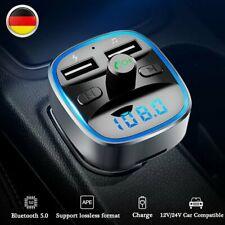 KFZ Bluetooth 5.0 FM Transmitter Auto MP3 Player Ladegerät AUX Freisprechanlage