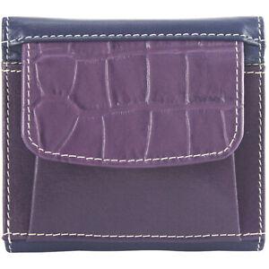 Sunsa Damen kleine Geldbörse Leder Geldbeutel Portemonnaie Brieftasche mit RFID