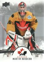 2016-17 Upper Deck Team Canada Juniors Hockey Card #92 Martin Brodeur