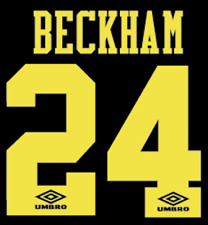 Manchester United Beckham Nameset Shirt Soccer Number Letter Heat Football Away