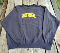 Vintage 90s Nike University Of Iowa Hawkeyes Crewneck Sweatshirt Center Swoosh