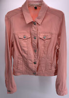 American Eagle Pink Denim Trucker Style Jacket W/ Silver Tone Buttons Size XL/TG