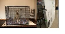 "Midwest Home Pet Dog Crate Big Pet XXL Breed Cage Double Door 54"" Heavy-Duty"