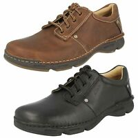 MEN'S CLARKS ACTIVE AIR LEATHER LACE UP CASUAL SHOES RICO PARK
