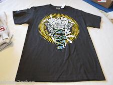 Crooks N Castles snakes chains RARE t shirt Men's M tar charcoal NEW