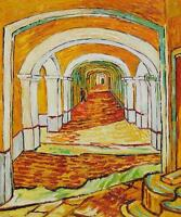 "Vincent Van Gogh *FRAMED* CANVAS ART Saint Paul's asylum 16""X 12"""